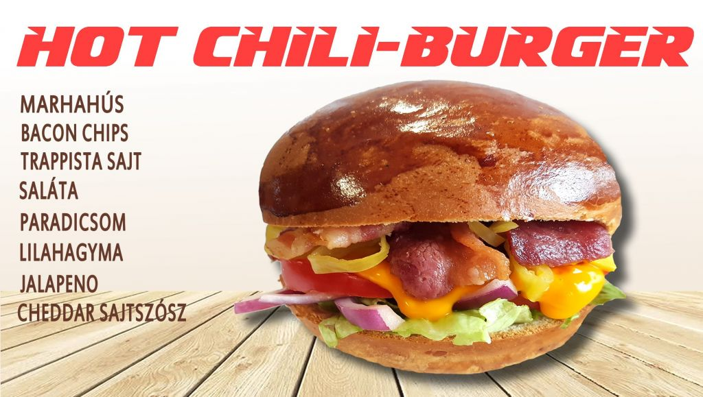 Hot chili burger